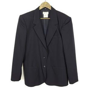 Vintage Gucci Black Wool Button Up Lapel Jacket